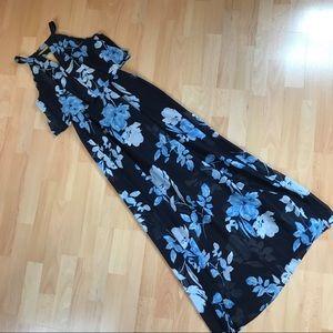 Westport Floral Navy Maxi Dress